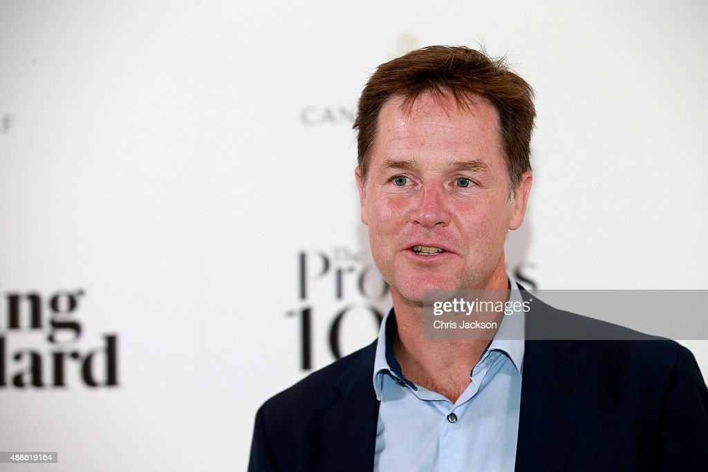 Nick Clegg attends as the London Evening Standard Progress 1000 list is revealed at Canary Wharf Crossrail on September 16, 2015 in London, England.