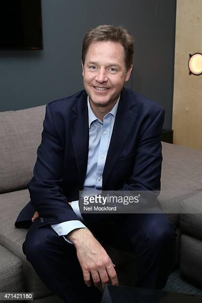 Nick Clegg interview with Angie Greaves for Bauer City Network on April 28 2015 in London England