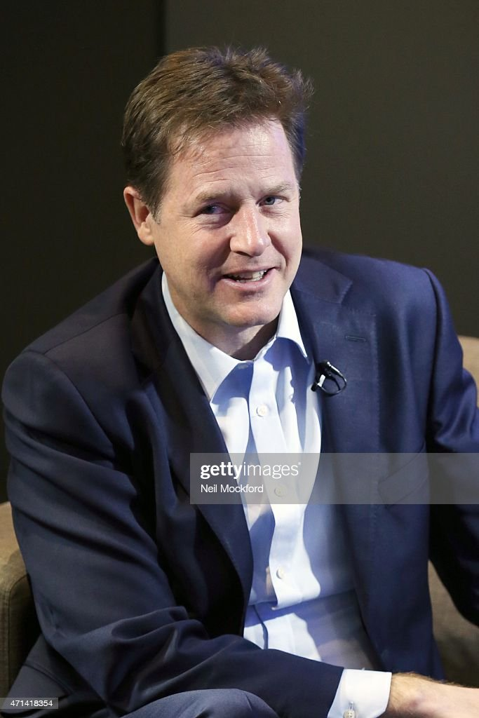 <a gi-track='captionPersonalityLinkClicked' href=/galleries/search?phrase=Nick+Clegg&family=editorial&specificpeople=579276 ng-click='$event.stopPropagation()'>Nick Clegg</a> interview with Nick Snaith and Aileen O'Sullivan for Magic in the Morning on April 28, 2015 in London, England.