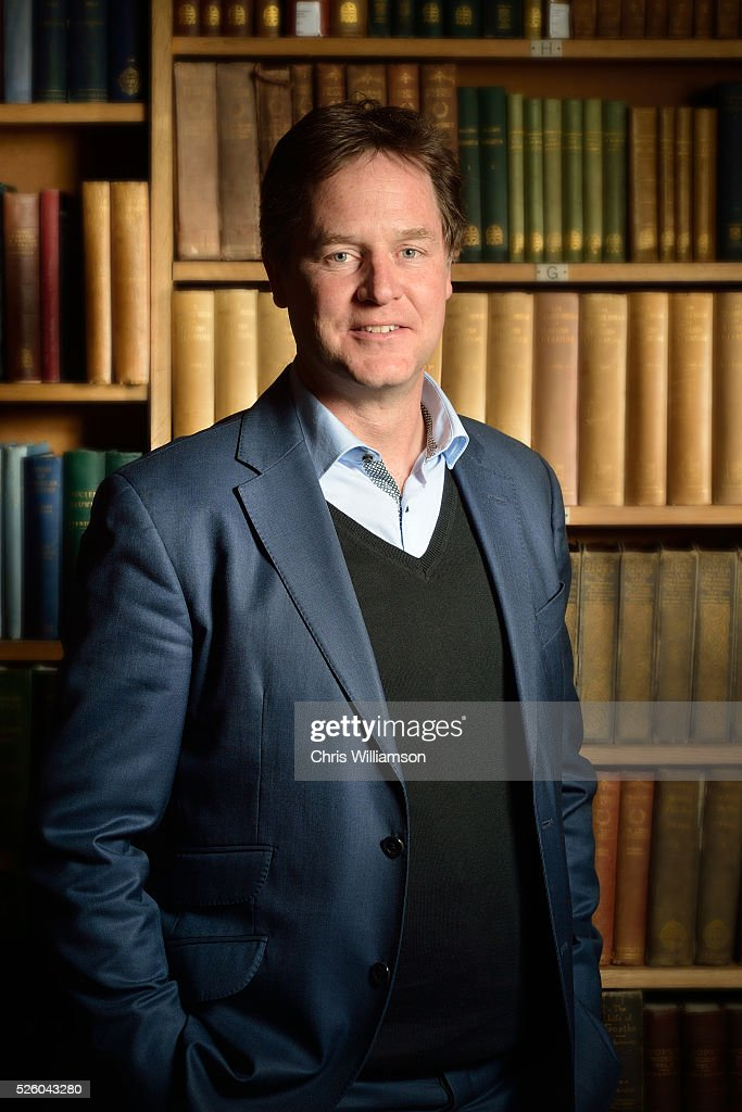 <a gi-track='captionPersonalityLinkClicked' href=/galleries/search?phrase=Nick+Clegg&family=editorial&specificpeople=579276 ng-click='$event.stopPropagation()'>Nick Clegg</a> Poses for a portrait at the Cambridge Union on April 27, 2016 in Cambridge, Cambridgeshire. <a gi-track='captionPersonalityLinkClicked' href=/galleries/search?phrase=Nick+Clegg&family=editorial&specificpeople=579276 ng-click='$event.stopPropagation()'>Nick Clegg</a> has been the MP for Sheffield Hallam since 2005 and is the former Leader of the Liberal Democrats resigning in 2015.