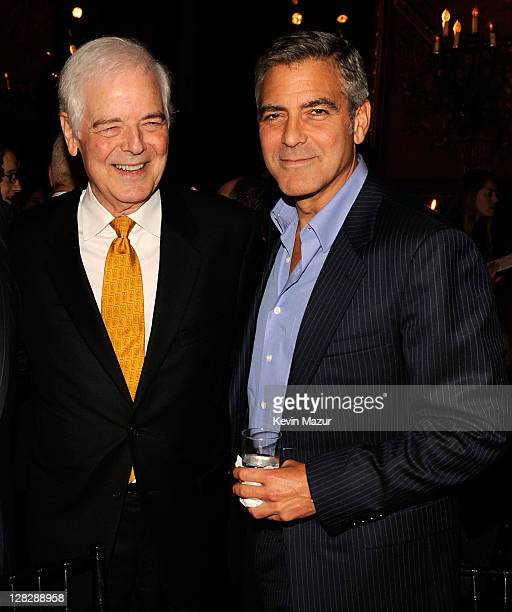 Nick Clooney and George Clooney attend the 'The Ides of March' premiere after party at The Metropolitan Club on October 5 2011 in New York City