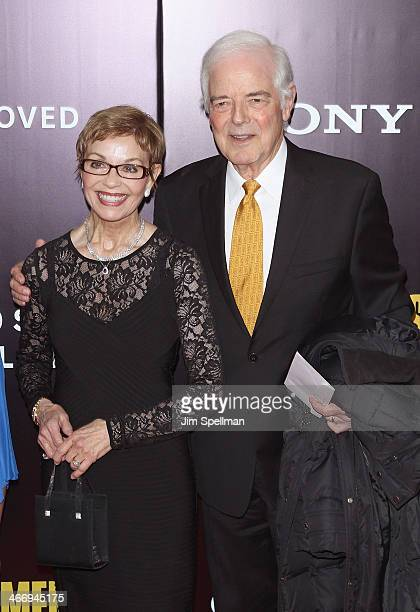 Nick Clooney and guest attend the 'Monument Men' premiere at Ziegfeld Theater on February 4 2014 in New York City