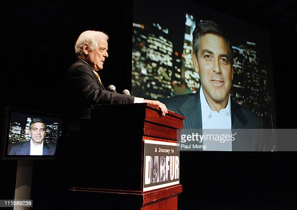 Nick Clooney with George Clooney during George Clooney's Documentary 'A Journey to Darfur' Premiere Presented by Nick Clooney and Martin Luther King...