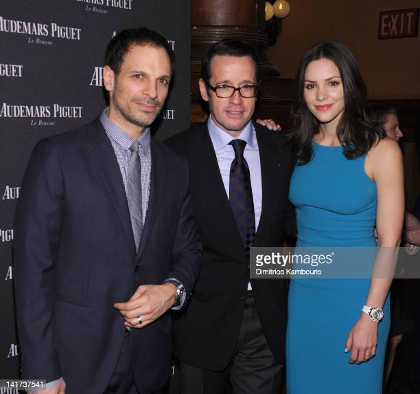 Nick Cokas President and CEO Audemars Piquet North America FrancoisHenry Bennahmias and Katharine McPhee attend Royal Oak 40 Years From AvantGarde to...