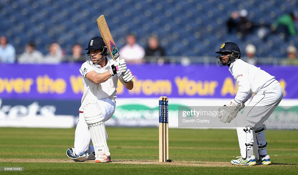 <a gi-track='captionPersonalityLinkClicked' href=/galleries/search?phrase=Nick+Compton&family=editorial&specificpeople=654760 ng-click='$event.stopPropagation()'>Nick Compton</a> of England bats during day four of the 2nd Investec Test match between England and Sri Lanka at Emirates Durham ICG on May 30, 2016 in Chester-le-Street, United Kingdom.