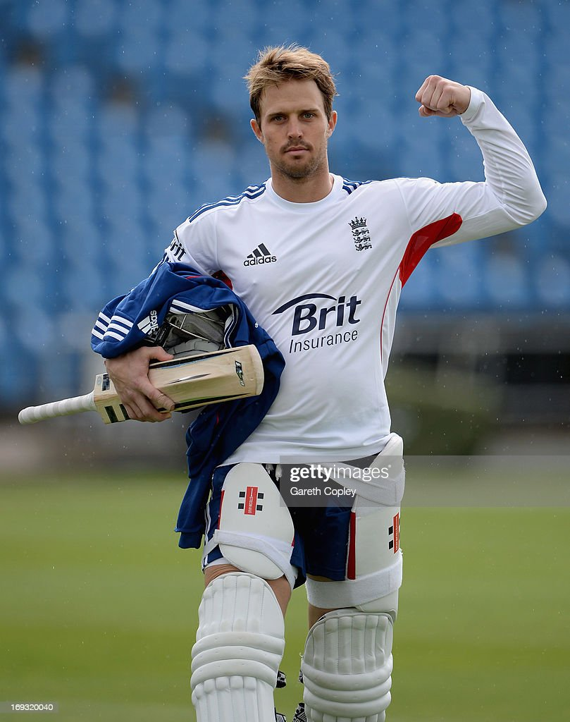 Nick Compton of England walks from the indoor school after a nets session at Headingley on May 23, 2013 in Leeds, England.