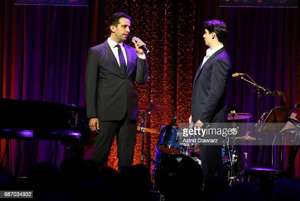 Nick Cordero and Bobby Conte Thornton perform during the Manhattan Theatre Club spring gala 2017 at Cipriani 42nd Street on May 22 2017 in New York...
