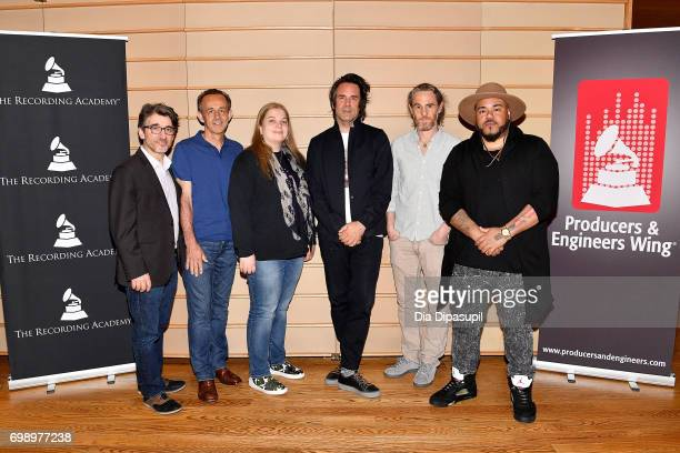 Nick Cucci Kevin Killen Ann Mincieli Tom Elmhirst Scott Jacoby and Erik 'Rook' Ortiz attend the GRAMMY Pro Art of the Craft The Listening Sessions at...