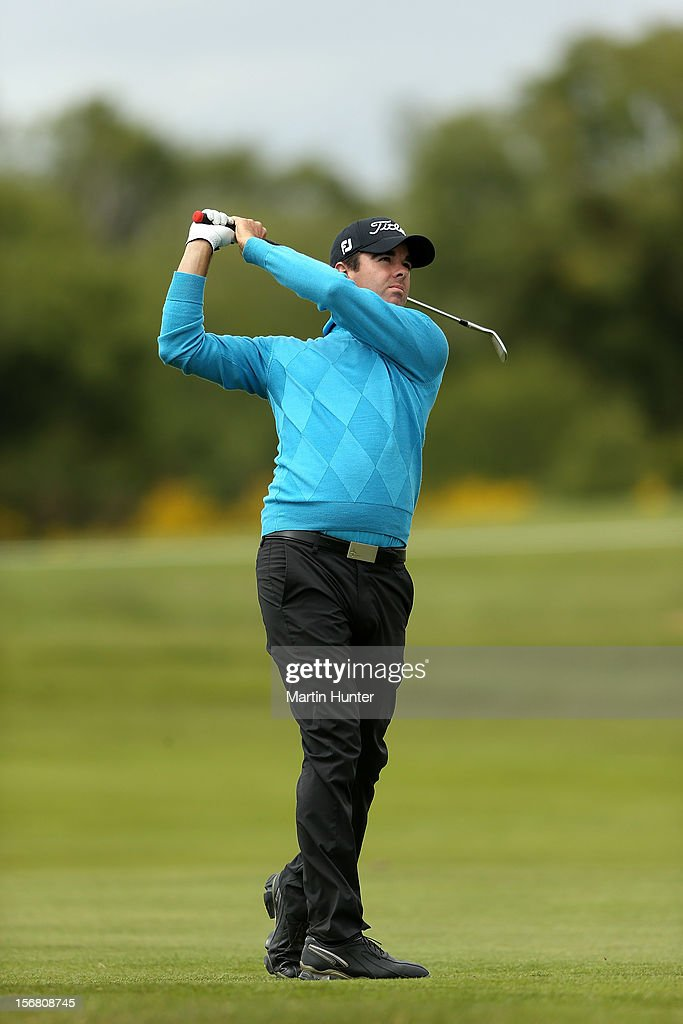 Nick Cullen of Australia plays a shot during day one of the New Zealand Open at Clearwater Golf Course on November 22, 2012 in Christchurch, New Zealand.
