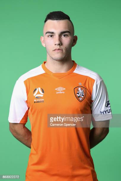 Nick D'Agostino poses during the Brisbane Roar 2017/18 ALeague Headshots Session at Fox Sports Studios on September 15 2017 in Sydney Australia