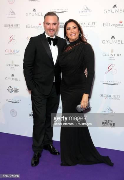 Nick Ede and maria Bravo attending the Global Gift Gala held at The Corinthia Hotel in London PRESS ASSOCIATION Photo Picture date Saturday November...