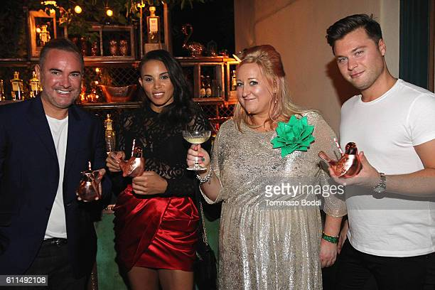 Nick Ede Louise Hazel Miranda Dickson and Andrew Naylor attend a private dinner at the home of Jonas Tahlin CEO Absolut Elyx on September 29 2016 in...