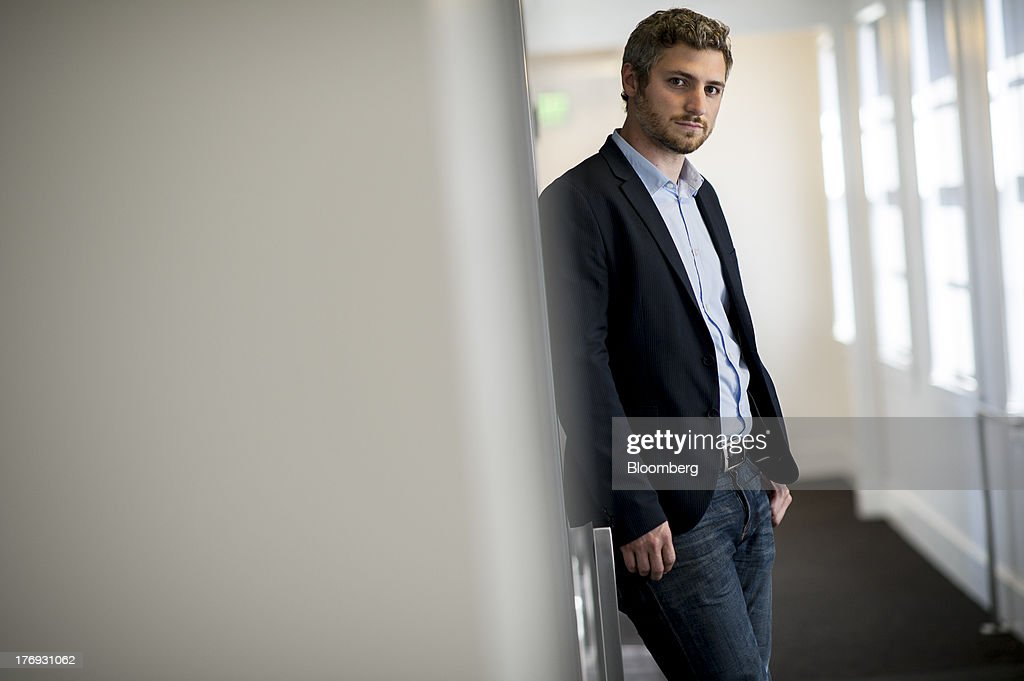 Nick Evans, co-founder of Reveal Labs and chief executive officer of Tile, stands for a photograph after a Bloomberg West Television interview in San Francisco, California, U.S., on Friday, Aug. 16, 2013. Tiles are Bluetooth tags that help find lost items on which the device is attached. Photographer: David Paul Morris/Bloomberg via Getty Images