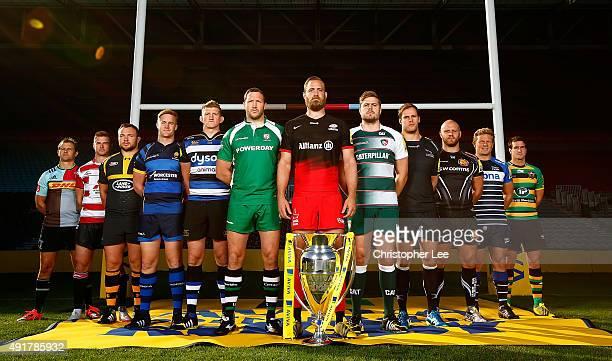 Nick Evans of Harlequins Henry Trinder of Gloucester Rugby Matt Mullan of Wasps GJ Van Veltze of Worcester Warriors Stuart Hooper of Bath Rugby...