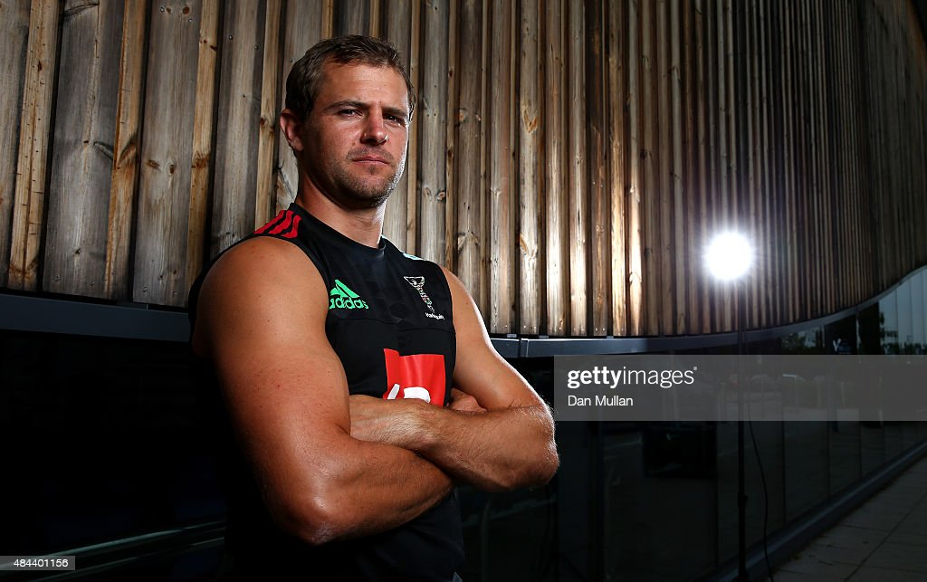 Nick Evans of Harlequins poses for a portrait during a photocall held at Surrey Sports Park on August 18 2015 in Guildford England