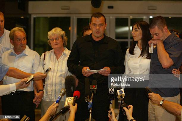 Nick Falconio with his family and Joanne Lees on December 13 2005 in Darwin Australia July 14 2011 marks the ten year anniversary of the...