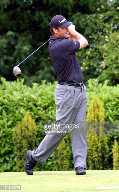 Nick Faldo attends the Marie Keating Golf Outing in aid of cancer awareness at the K Club Dublin Ireland July 19 2004 Ronan Keating could not attend...