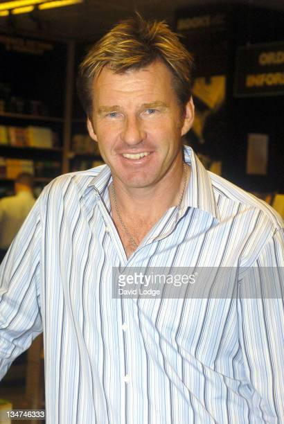 Nick Faldo during Nick Faldo Signs Copies of his Autobiography 'Life Swings' at Books Etc October 5 2004 at Books Etc in London Great Britain