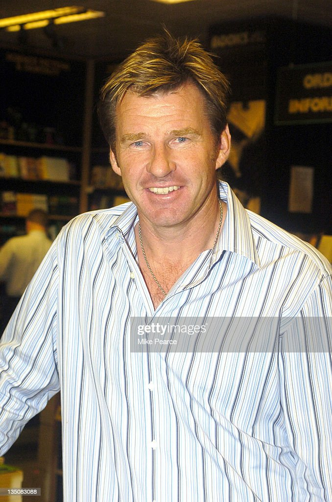 "Nick Faldo Signs Copies of His Autobiography ""Life Swings"""