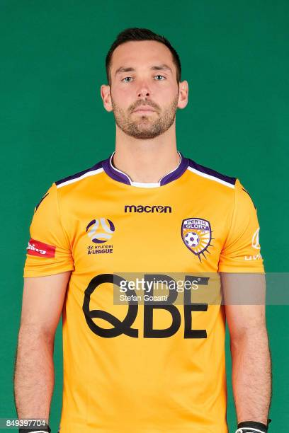 Nick Feely poses during the Perth Glory 2017/18 ALeague season headshots session on September 15 2017 in Perth Australia