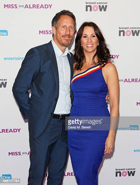 Nick Feeney and Andrea McLean attend the European Premiere of 'Miss You Already' at Vue West End on September 17 2015 in London England