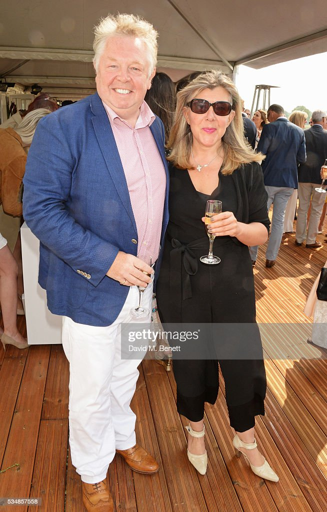 Nick Ferrari (L) and Sandra Phylis Conolly attend day one of the Audi Polo Challenge at Coworth Park on May 28, 2016 in London, England.
