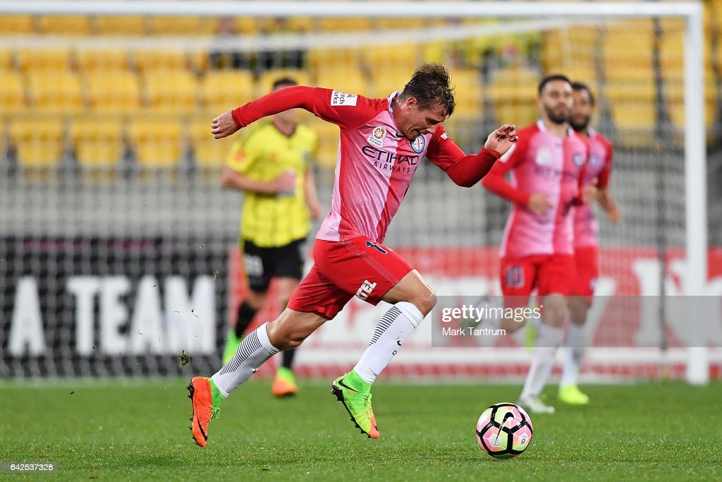 Nick Fitzgerald of Melbourne City during the round 20 A-League match between the Wellington and Melbourne City at Westpac Stadium on February 18, 2017 in Wellington, New Zealand.