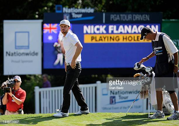 Nick Flanagan from Australia watches play on the 18th hole during the final round of the BMW Charity ProAm presented by SYNNEX Corporation at the...