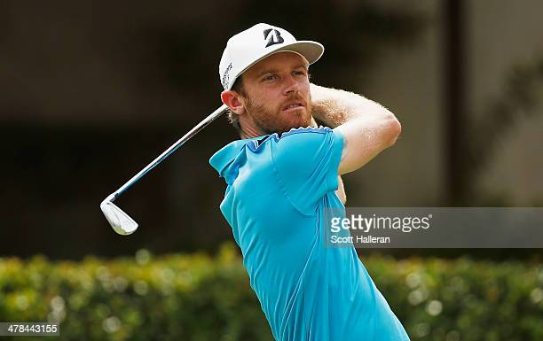 Nick Flanagan of Australia hits his tee shot on the first hole during the first round of the 2014 Brasil Champions Presented by HSBC at the Sao Paulo...