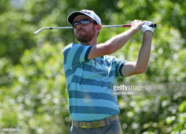 Nick Flanagan of Australia plays his shot from the 16th tee during the first round of the 2017 US Open at Erin Hills on June 15 2017 in Hartford...