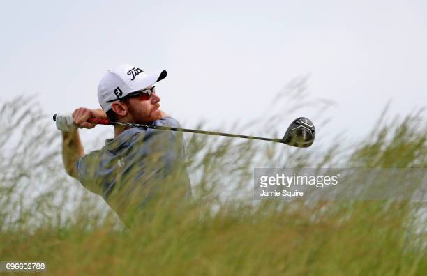 Nick Flanagan of Australia plays his shot from the fifth tee during the second round of the 2017 US Open at Erin Hills on June 16 2017 in Hartford...