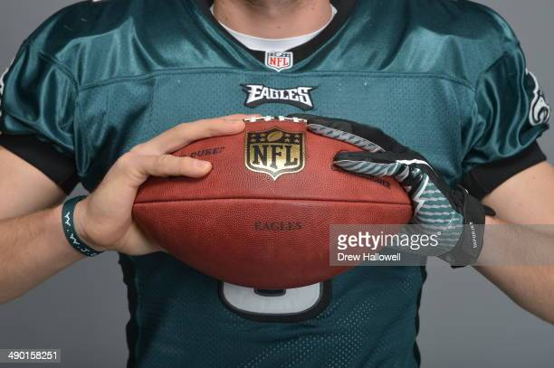 Nick Foles of the Philadelphia Eagles poses for portraits at the NovaCare Complex on December 20 2013 in Philadelphia Pennsylvania