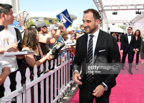 Nick Foligno of the Columbus Blue Jacket attends the 2017 NHL Awards at TMobile Arena on June 21 2017 in Las Vegas Nevada