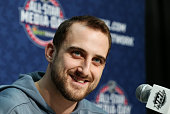Nick Foligno of the Columbus Blue Jackets during Media Availability for the 2015 NHL AllStar Weekend at the Nationwide Arena on January 23 2015 in...