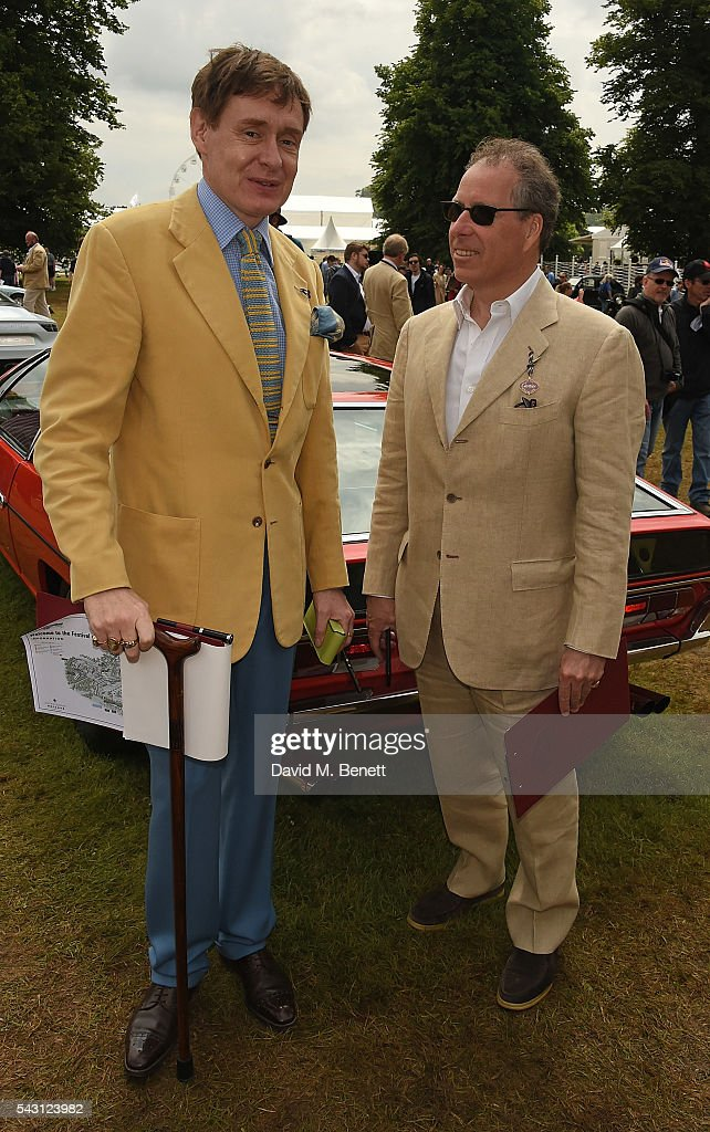 Nick Foulkes and David Armstrong-Jones, Viscount Linley attend The Cartier Style et Luxe at the Goodwood Festival of Speed at Goodwood on June 26, 2016 in Chichester, England.