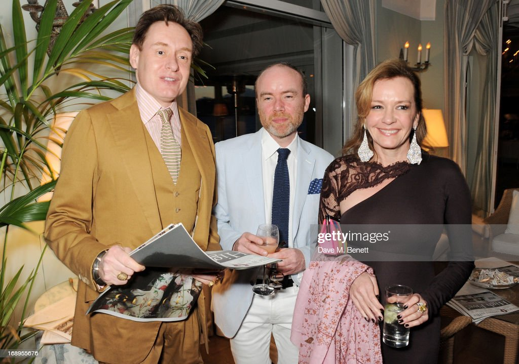 Nick Foulkes, Tristram Fetherstonhaugh and Caroline Scheufele attend the annual Finch's Quarterly Review Filmmakers Dinner hosted by Charles Finch, Caroline Scheufele and Nick Foulkes at Hotel Du Cap Eden Roc on May 17, 2013 in Antibes, France.