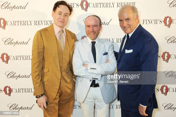 Nick Foulkes Tristram Fetherstonhaugh and Charles Finch attend the annual Finch's Quarterly Review Filmmakers Dinner hosted by Charles Finch Caroline...