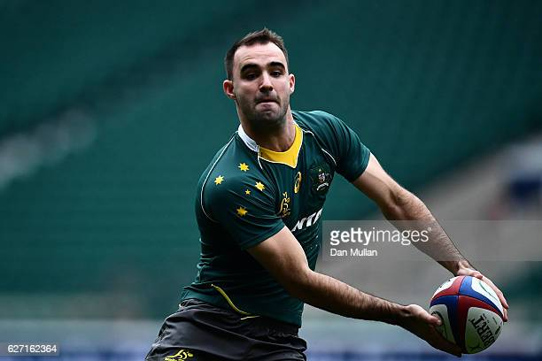 Nick Frisby of Australia in action during the Australia Captain's Run at Twickenham Stadium on December 2 2016 in London England