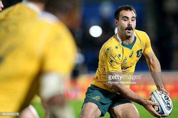 Nick Frisby of Australia in action on during the Test match between Barbarians and Australia on November 24 2016 in Bordeaux France