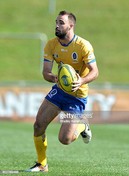 Nick Frisby of Brisbane City looks to pass during the round three NRC match between Brisbane City and Canberra Vikings at Ballymore Stadium on...