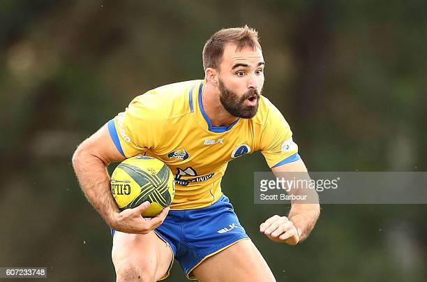 Nick Frisby of City runs with the ball during the round four NRC match between Melbourne Rising and Brisbane City at Harlequins Oval on September 17...