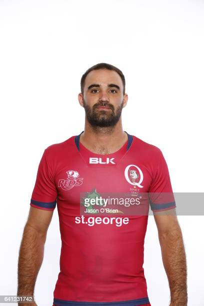 Nick Frisby poses during the Queensland Reds Super Rugby headshots session on January 18 2017 in Brisbane Australia