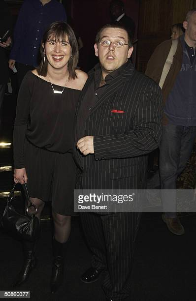 Nick Frost and his girlfriend attend the UK Premiere of 'Shaun of the Dead' at The Vue in Leicester Square followed by the party at the Atlantic Bar...