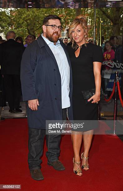 Nick Frost and TracyAnn Oberman attend the UK Premiere of 'Hector And The Search For Happiness' at Empire Leicester Square on August 13 2014 in...
