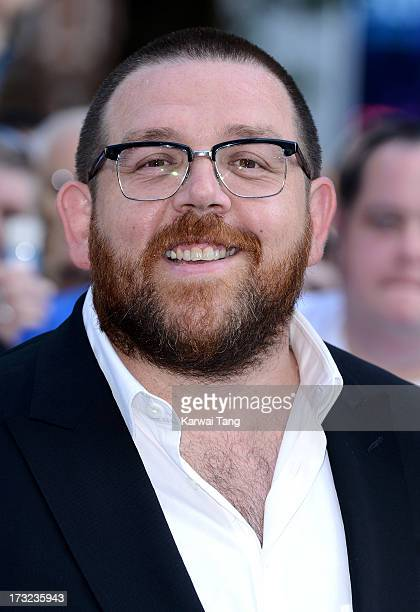 Nick Frost attends the World Premiere of 'The World's End' at Empire Leicester Square on July 10 2013 in London England