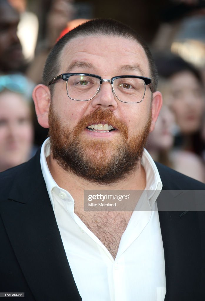 Nick Frost attends the World Premiere of 'The World's End' at Empire Leicester Square on July 10, 2013 in London, England.