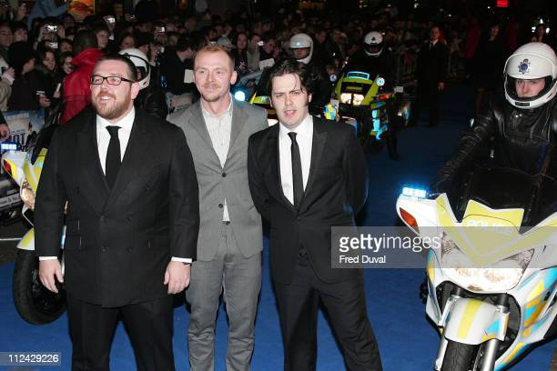 Nick Frost Simon Pegg and Edgar Wright the writer and director