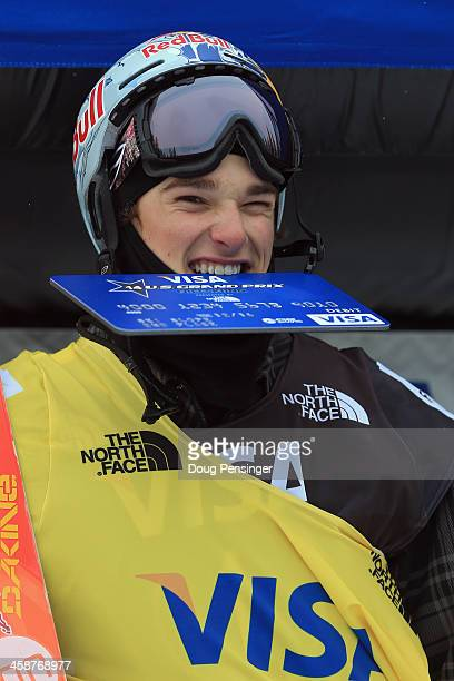 Nick Goepper takes the podium in second place in the men's FIS Slopestyle Ski World Cup at the US Snowboarding and Freeskiing Grand Prix on December...