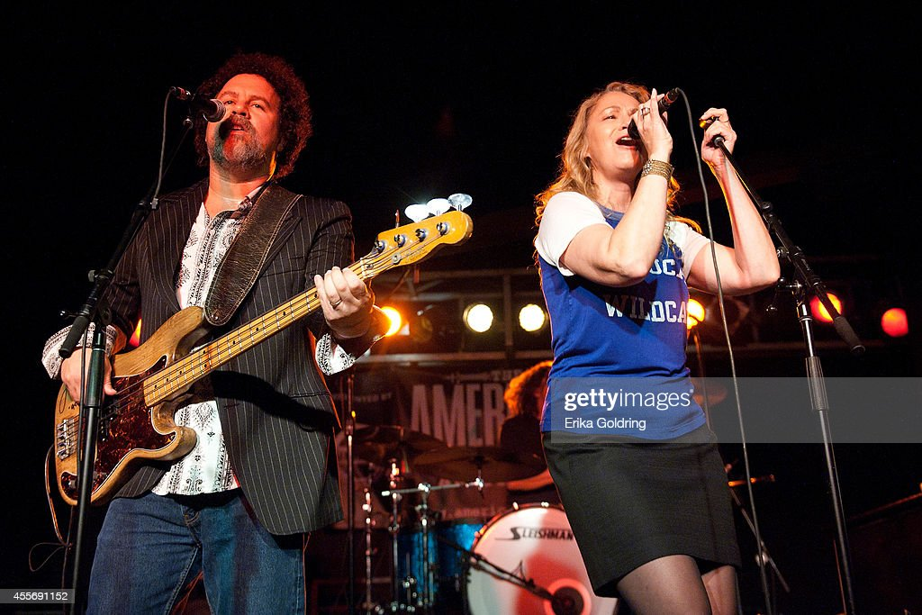 Nick Govrik and Joan Osborne of Trigger Hippy perform at The Cannery Ballroom on September 18 2014 in Nashville Tennessee