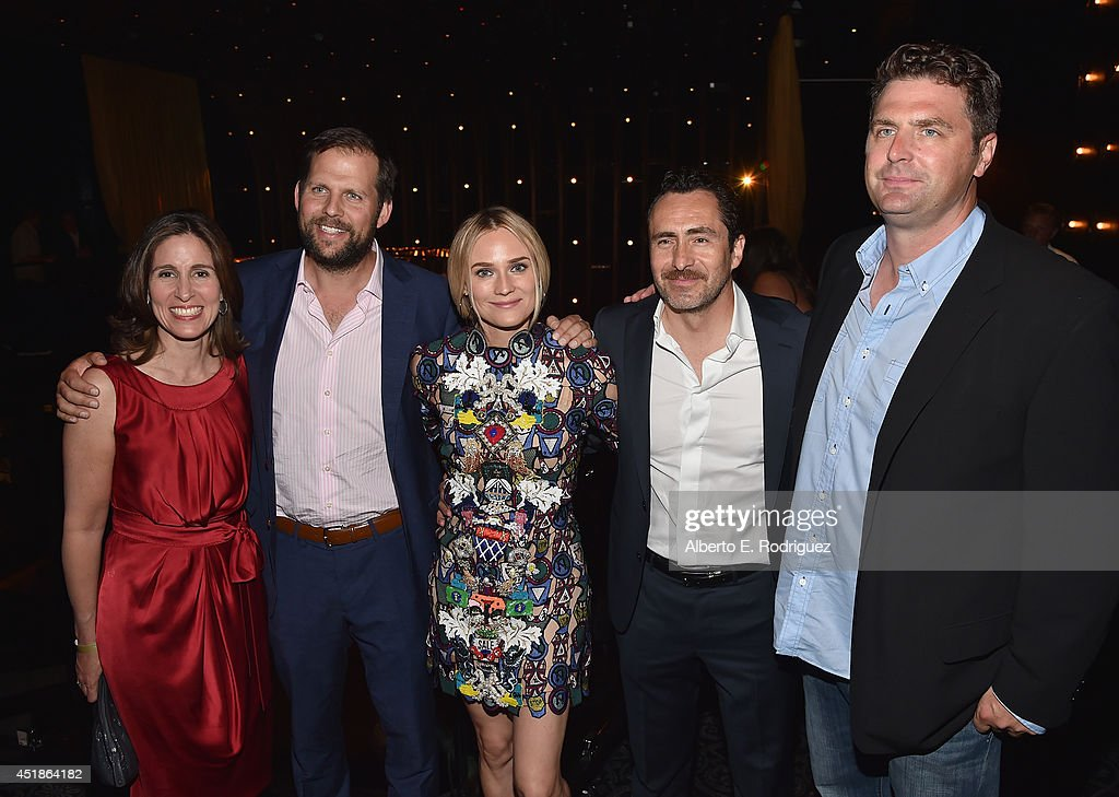Nick Grad, president of Original Programming & FX productions, actress <a gi-track='captionPersonalityLinkClicked' href=/galleries/search?phrase=Diane+Kruger&family=editorial&specificpeople=202640 ng-click='$event.stopPropagation()'>Diane Kruger</a>, actor <a gi-track='captionPersonalityLinkClicked' href=/galleries/search?phrase=Demian+Bichir&family=editorial&specificpeople=604427 ng-click='$event.stopPropagation()'>Demian Bichir</a> and creator/writer Elwood Reid attend the after party for the season premiere of FX's 'The Bridge' at the Pacific Design Center on July 7, 2014 in West Hollywood, California.